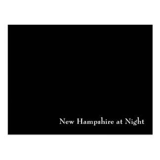 New Hampshire at Night Postcard