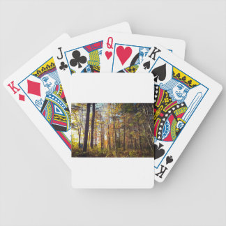 New Hampshire Autumn Forest Bicycle Playing Cards