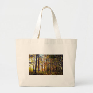 New Hampshire Autumn Forest Large Tote Bag
