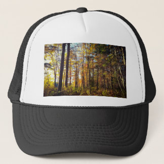 New Hampshire Autumn Forest Trucker Hat
