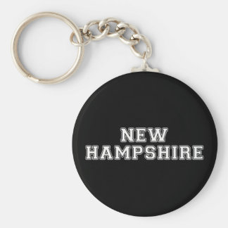 New Hampshire Basic Round Button Keychain