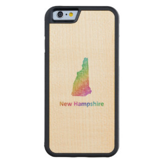 New Hampshire Carved Maple iPhone 6 Bumper Case