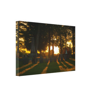 New Hampshire Cemetery at Sunset Canvas Print