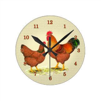 New Hampshire Chickens Clock