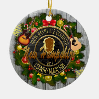 New Hampshire Country Music Fan Christmas Ornament
