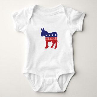 New Hampshire Democrat Donkey Baby Bodysuit