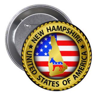 New Hampshire Democrat Election Button - srf