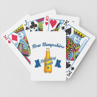 New Hampshire Drinking team Bicycle Playing Cards