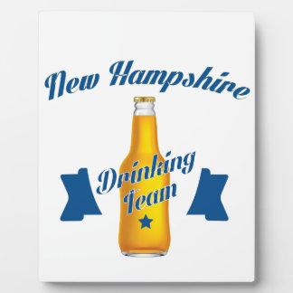 New Hampshire Drinking team Plaque
