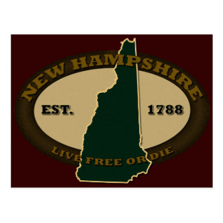New Hampshire Est 1788 Postcard