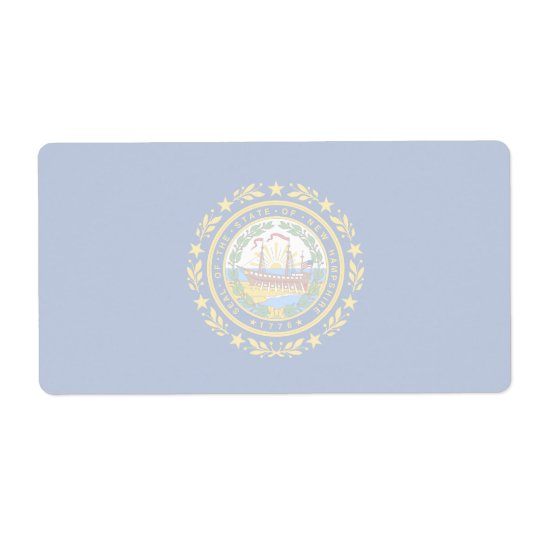 New Hampshire Faint Flag Shipping Label