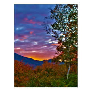 New Hampshire Fall Foliage Sunset Postcard