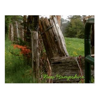 New Hampshire fence Postcard
