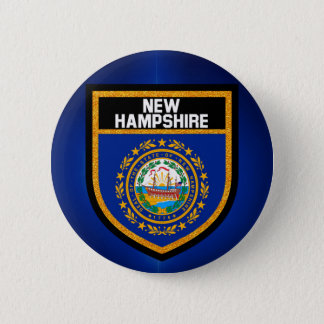 New Hampshire Flag 2 Inch Round Button