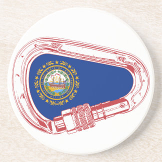 New Hampshire Flag Climbing Carabiner Coaster