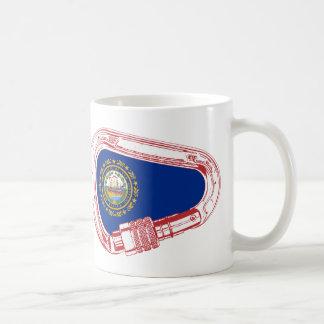 New Hampshire Flag Climbing Carabiner Coffee Mug