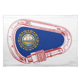 New Hampshire Flag Climbing Carabiner Placemat