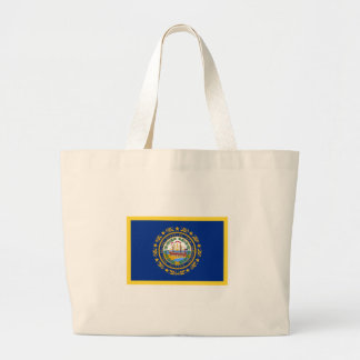 New Hampshire Flag Large Tote Bag