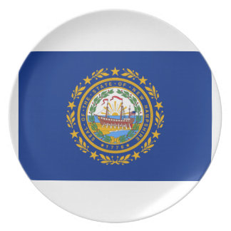 New Hampshire Flag Party Plates