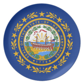 New Hampshire Flag Plate