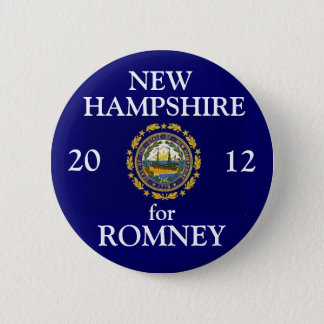 New Hampshire for Romney 2012 2 Inch Round Button