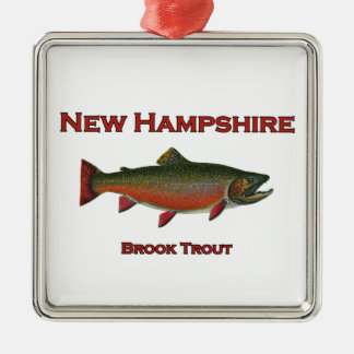 New Hampshire Freshwater Fishing - Brook Trout Metal Ornament
