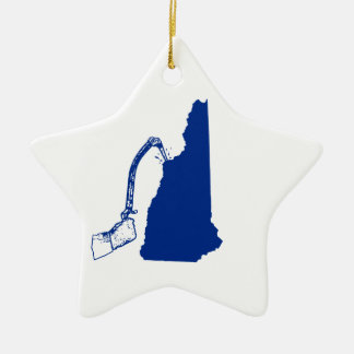 New Hampshire Ice Climbing Ceramic Ornament