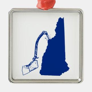 New Hampshire Ice Climbing Metal Ornament