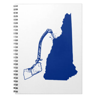 New Hampshire Ice Climbing Spiral Notebook