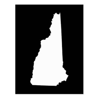 New Hampshire in White and Black Postcard