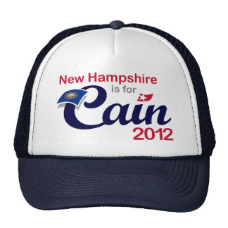New Hampshire is for Cain 2012 - Herman Cain Hats