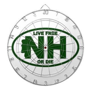 New Hampshire Live Fee or Die Dartboard
