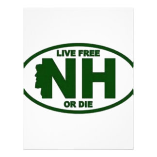 New Hampshire Live Fee or Die Letterhead Template
