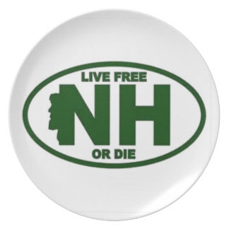 New Hampshire Live Fee or Die Plate
