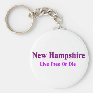 New hampshire-Live free or die Keychain