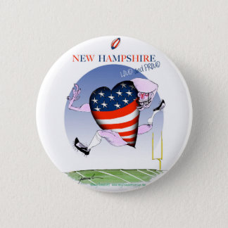 new hampshire loud and proud, tony fernandes 2 inch round button
