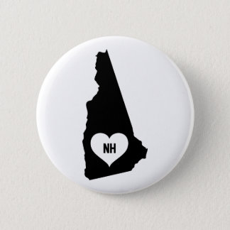 New Hampshire Love 2 Inch Round Button