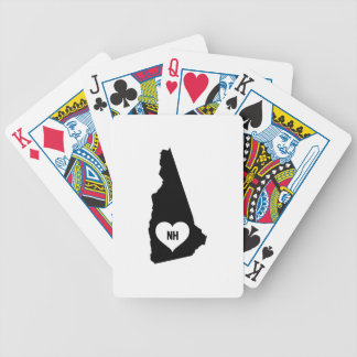 New Hampshire Love Bicycle Playing Cards