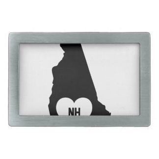 New Hampshire Love Rectangular Belt Buckle