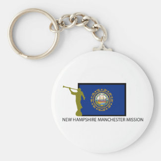 NEW HAMPSHIRE MANCHESTER MISSION LDS CTR BASIC ROUND BUTTON KEYCHAIN