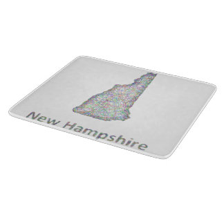 New Hampshire map Cutting Board