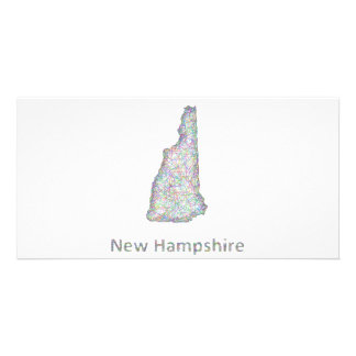 New Hampshire map Personalized Photo Card