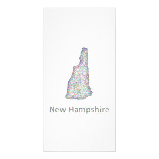 New Hampshire map Photo Card
