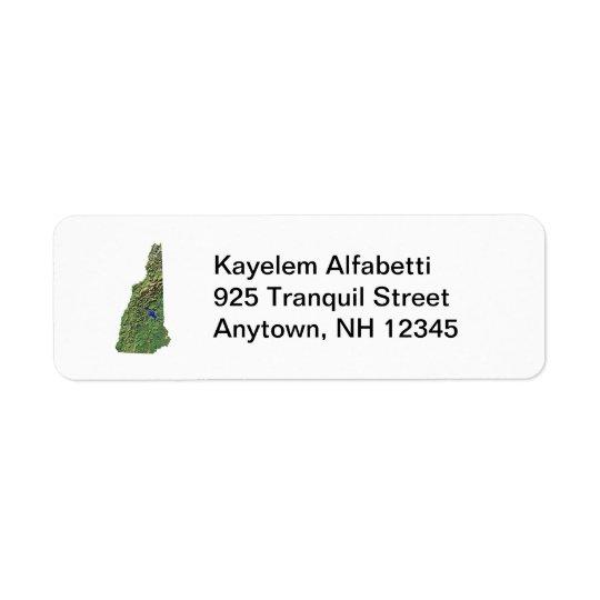 New Hampshire Map Return Address Label