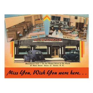 New Hampshire, Monadnock Grill, Keene Postcard