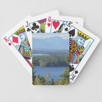 New Hampshire Mountain Lake Bicycle Playing Cards