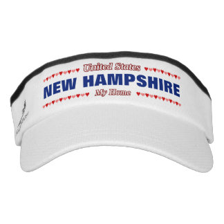 NEW HAMPSHIRE - My Home - United States; Hearts Visor