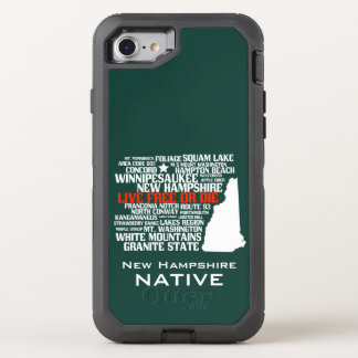 New Hampshire Native Live Free or Die OtterBox Defender iPhone 8/7 Case