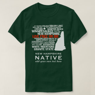 New Hampshire Native Live Free or Die T-Shirt
