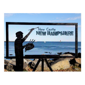 New Hampshire, New Castle Great Island Sculpture Postcard